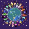 Children of different nationalities round the globe