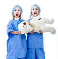 Children doctor cute hospital Stock Photo
