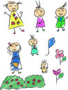Children doodle a vector set of doodles in childish style drawn in sketch style this vector is very good for design that need Stock Image