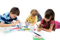 Children Drawing Royalty Free Stock Photo