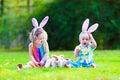 Children At Easter Egg Hunt