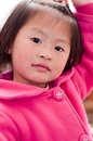Children expressions close up of chinese child face indoor Stock Photo