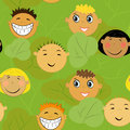 Children faces background Royalty Free Stock Images