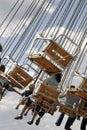 Children on fairground ride Royalty Free Stock Image