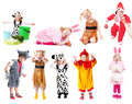 Children in fancy dress Royalty Free Stock Images