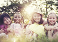 Children Friends Playing Playful Active Concept Royalty Free Stock Photo