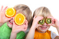 Children fruit Stock Photography