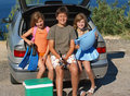 Children go on summer vacation Stock Photography