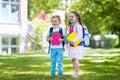Children going back to school, year start