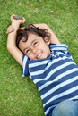 Children on the grass Royalty Free Stock Images