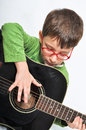 Children and guitar Royalty Free Stock Photo