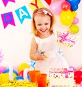 Children happy birthday party . Stock Images