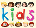 Children with happy face Royalty Free Stock Photo