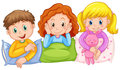 Children happy at slumber party Royalty Free Stock Photo