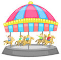 Children having a good time in a carousel with whi white background create by vector Stock Photos