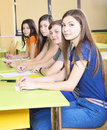 Children in high school class Royalty Free Stock Images