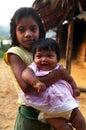 Children Kaapor, native indian of Brazil Royalty Free Stock Photo