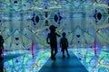 Children In Kaleidoscope Tunnel