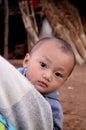 Children of Karen villager in poverty village. Royalty Free Stock Photo