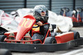Children karting Royalty Free Stock Photo
