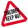 Children Keep Out rubber stamp