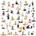 Children kids babies playing professions Royalty Free Stock Image