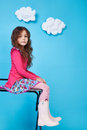 Children kids fashion dress little girl cute smile Royalty Free Stock Photo