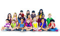 Children kids happines multiethnic group cheerful concept Stock Photos