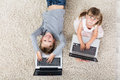 Children With Laptops Royalty Free Stock Photo
