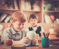 Children during lesson in school Royalty Free Stock Images