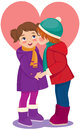 Children in love Royalty Free Stock Image
