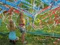 Children making artwork