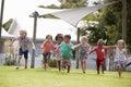 Children At Montessori School Having Fun Outdoors During Break Royalty Free Stock Photo