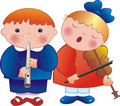 Children musicians Stock Photos