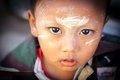 Children of myanmar yangon november unidentified burmese boy with thanaka on his face on november in yangon thanaka is a yellowish Stock Photo