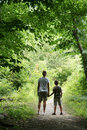 Children on Nature Hike Stock Photo