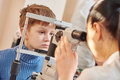 Children ophthalmology or optometry Royalty Free Stock Photo