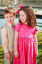 Children outdoors Royalty Free Stock Photography