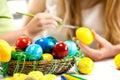 Children Paint Easter Eggs At ...
