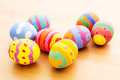 Children painted easter egg close up Stock Photo