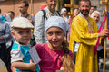 Children and parishioners ukrainian orthodox church moscow patriarchate during religious procession kiev ukraine july in at Royalty Free Stock Image