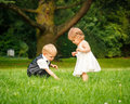Children in the park Royalty Free Stock Image