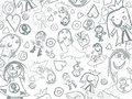 Children pencil scribbles background design Royalty Free Stock Image