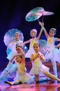 Children in the performing dance drama Royalty Free Stock Photography