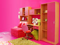 Children pink room Royalty Free Stock Photo