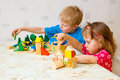 Children play cube Royalty Free Stock Photo