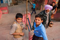 Children play on the the hindu temple steps unidentified in chitrakoot india total population of city chitrakoot is city literacy Royalty Free Stock Image