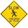 Children at Play Sign Diamond Shaped Royalty Free Stock Image