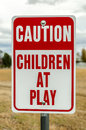 Children at Play Sign Royalty Free Stock Photo