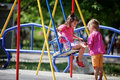 Children on playground Royalty Free Stock Photo